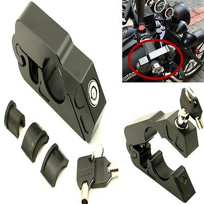Universal Motorcycle Scooter Grip Brake Lever Handlebar Anti -Theft Lock Black