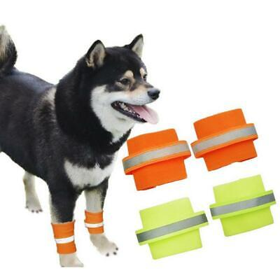 2pcs Elastic Pet Dog Safety Leg Bands Knee Protector Reflective Strips S M L