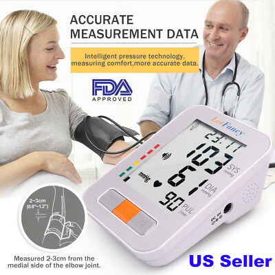 Automatic Digital Arm Blood Pressure Cuff BP Monitor Large Machine Test Adapter
