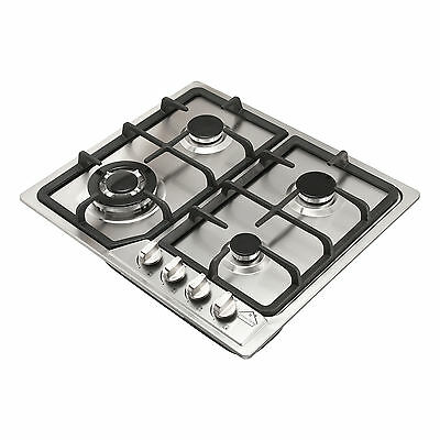 585mm Stainless Steel Built-in Kitchen 4 Burner Stove Gas Hob Cooktop Cooker