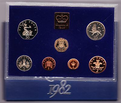 1982 Standard Proof Set Of 7 Coins
