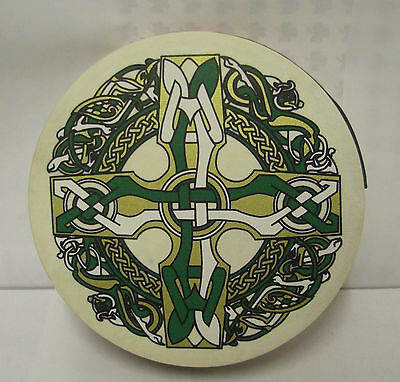 "IRELAND Irish MUSIC 12"" Celtic Cross Bodhran Drum Beater DVD 3Items"