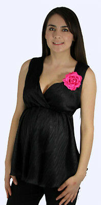 Sexy Sleeveless Black Party Club Cruise Top Pants Maternity Set Pink Flower USA