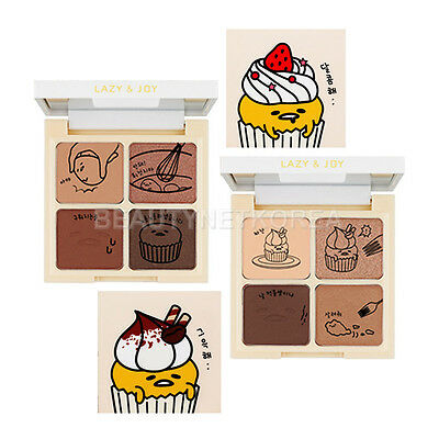 [HOLIKA HOLIKA] Gudetama Lazy & Joy Cupcake Eye Paltte Shadow 2 Color 6g