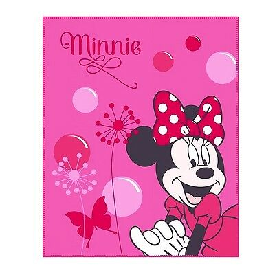Disney Minnie Mouse - Mantas Niños - Color de Rosa - Tamaño 110x140 cm