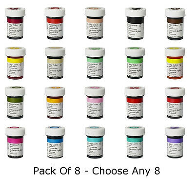 Any 8 x Wilton Icing Color Concentrate Paste Gel Cup cake Food Colouring Baking