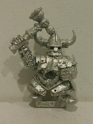 Dogs of War Cursed Company Dwarf x 1 metal model AOS warhammer fantasy Rare OOP