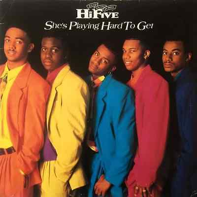 """HI-FIVE - She's Playing Hard To Get (12"""") (VG-EX/G+)"""