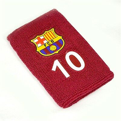 Barcelona Numbered Wristband - No. 10 Messi Fcb Football Band Official Fan Gift