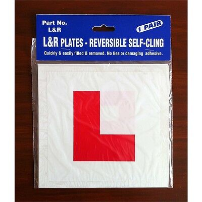 L&r Reversible Self Cling L Plate N.i Only - Driving Plates Lesson Gift Learner