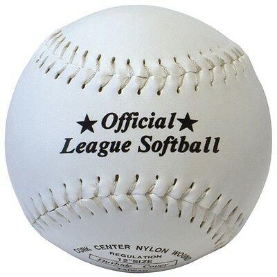 "12"" Synthetic Leather Softball - 12"" Baseball Ball Professional Sports"