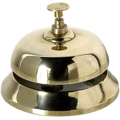 Solid Brass Decorative Desk Bell - Reception Hotel Table Hallway Call Home