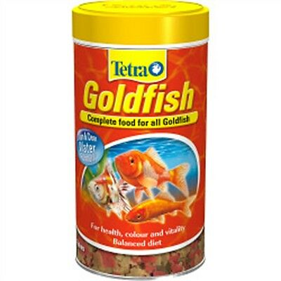 500ml Tetra Goldfish Flakes - 100g Gold Fish Food Vitamins Minerals Aquarium