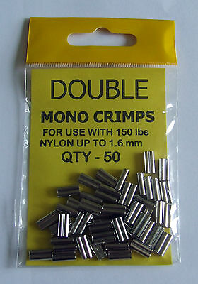 Double Mono Crimps upto 150lb Nylon 1.6mm - Sea, Game Fishing