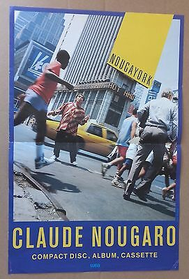 "AFFICHE SPECTACLE : Claude Nougaro ""Nougayork"" 1987"