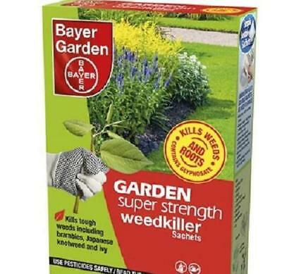 Bayer Garden Super Strength Glyphosate Weedkiller (12 Sachets) Pack