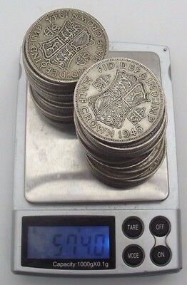 41 x Half Crown British Silver Coin Collection Including 1925 and 1924 - 574G