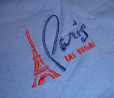 PARIS LAS VEGAS Vintage Casino T-Shirt~Size L Large~BLUE~Never Worn