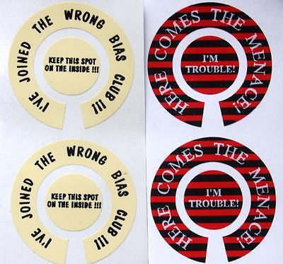 Funny Lawn Bowls Stickers 10 Designs Weakest Link Wrong Bias Club Dead Wood NEW