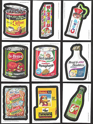 2006 Topps Wacky Packages ANS4 COMPLETE MAGNET SET of 9 magnets