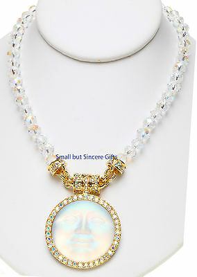 KIRKS FOLLY UNDER the SEAVIEW MOON MAGNETIC NECKLACE ~ Never Released Goldtone