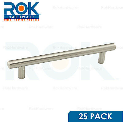 "25 Pack 7-7/8"" Length Euro Style Brushed Nickel Pull Handle 6-5/16"" Hole Centers"