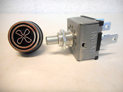 Rotary A/c 3 Speed Blower Switch Universal Type With 'fan' Knob Indak,made In Us