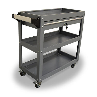 397 Us Pro Tools Grey Tool Cart Mobile Trolley Steel Workstaion Box 1 Drawer