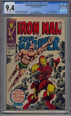 Iron Man And Sub-Mariner #1 Cgc 9.4 White Pages Marvel