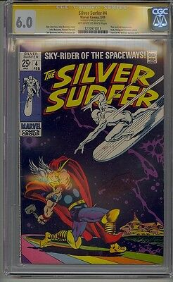 Silver Surfer #4 Cgc 6.0 Ss Signed Stan Lee Vs Thor