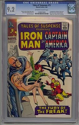 Tales Of Suspense #75 Cgc 9.2 Off-White To White Pages 1St Sharon Carter Marvel