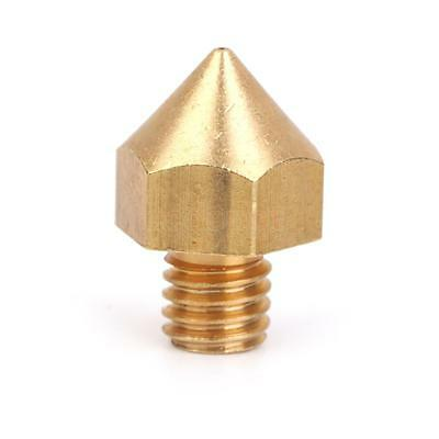 0.4mm Copper Extruder Nozzle Print Head for 3mm Filament 3D Printer Gold Hot