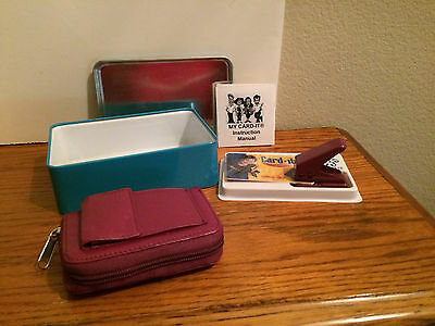 Burgundy Card-It Card Organizer System Plus Outer Pocket