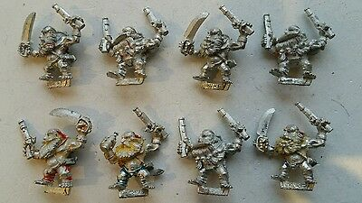 Dogs of War 8 x Long Drong's Slayer Pirate Dwarfs DOW AOS OOP