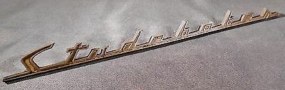 Used Antique Studebaker Name Plate 1952 Hood Ornament