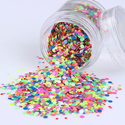 10g/Box Candy Color Round Nail Art Sequins Mixed Glitter Tips Manicure Decor