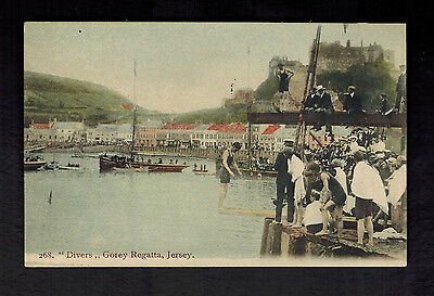 1943 Occuppied Jersey England Picture Postcard First Day CoverGorey Regatta FDC