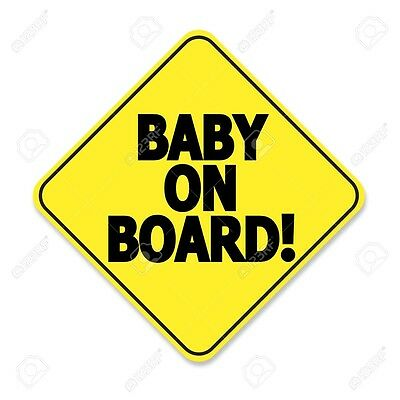 Safety 1st Baby On Board Sign - Yellow Sucti Cup Car Window Hanging Warning