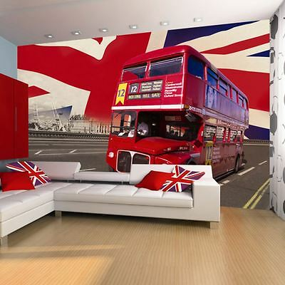 London Bus Wall Mural New Modern Feature Wall Free P+P