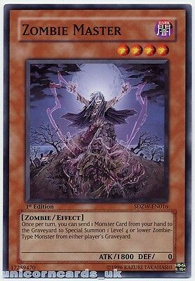 SDZW-EN016 Zombie Master 1st Edition Mint YuGiOh Card
