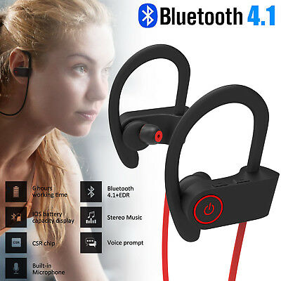 Wireless Bluetooth Headset Stereo Headphone Earphone Sport for iPhone LG Samsung