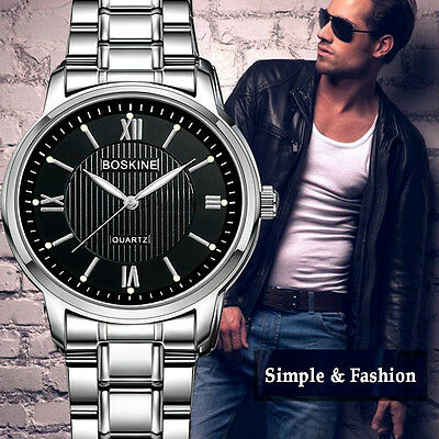 Luxury Automatic Non - Mechanical Watches Men's Army Stainless Steel Wrist Watch