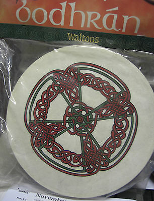 "Irish MUSIC 8"" KNOTWORK Waltons Bodhran Drum Beater 2 Items"