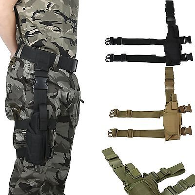 New Military Airsoft Tactical Pistol Drop Leg Thigh Holster Bag Pouch Right Hand
