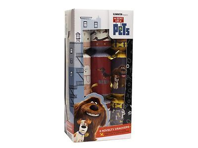 6 x SECRET LIFE OF PETS CHRISTMAS CRACKERS DINNER TABLE PARTY DECORATIONS 280218
