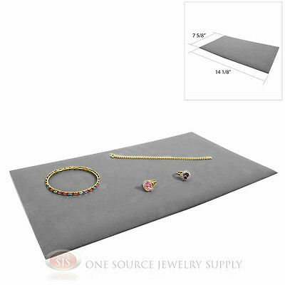 (1) Gray Plush Soft Velvet Jewelry Display Counter Display Pads Tray Liners