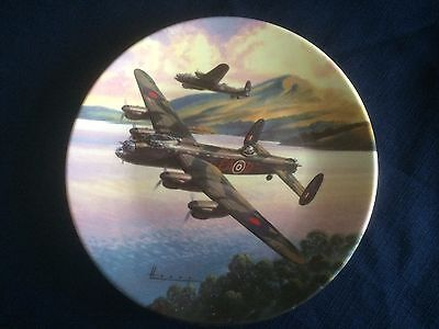 """Royal Worcester The Dambusters """" Prelude: Low Over The Lake """" plate"""