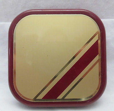 Vintage 1981 Avon Compact Double Mirror Red & Gold Tone Plastic