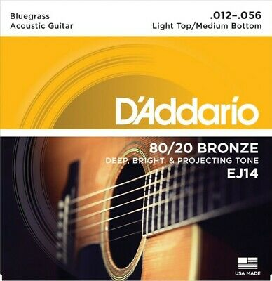 D'Addario EJ14 80/20 Bronze Bluegrass 12-56 Acoustic Guitar Strings