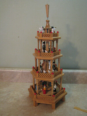 VTG German Weihnachts 4 TIER NATIVITY PYRAMID Carousel NO WINDMILL Christmas